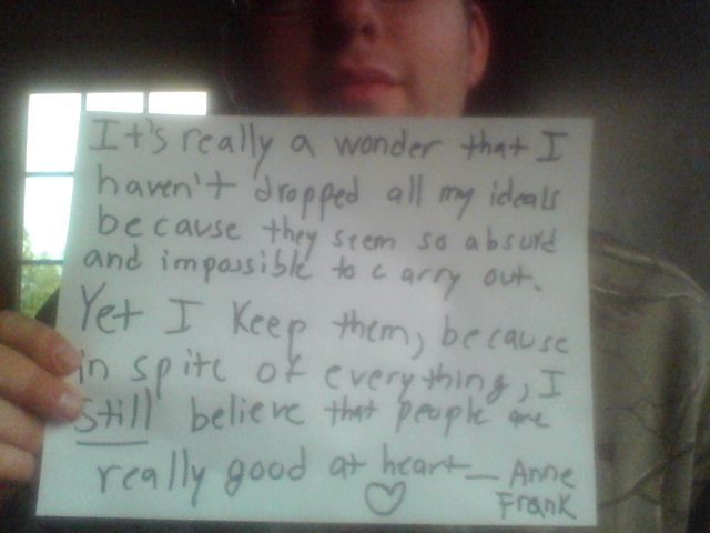 message of hope from anne frank